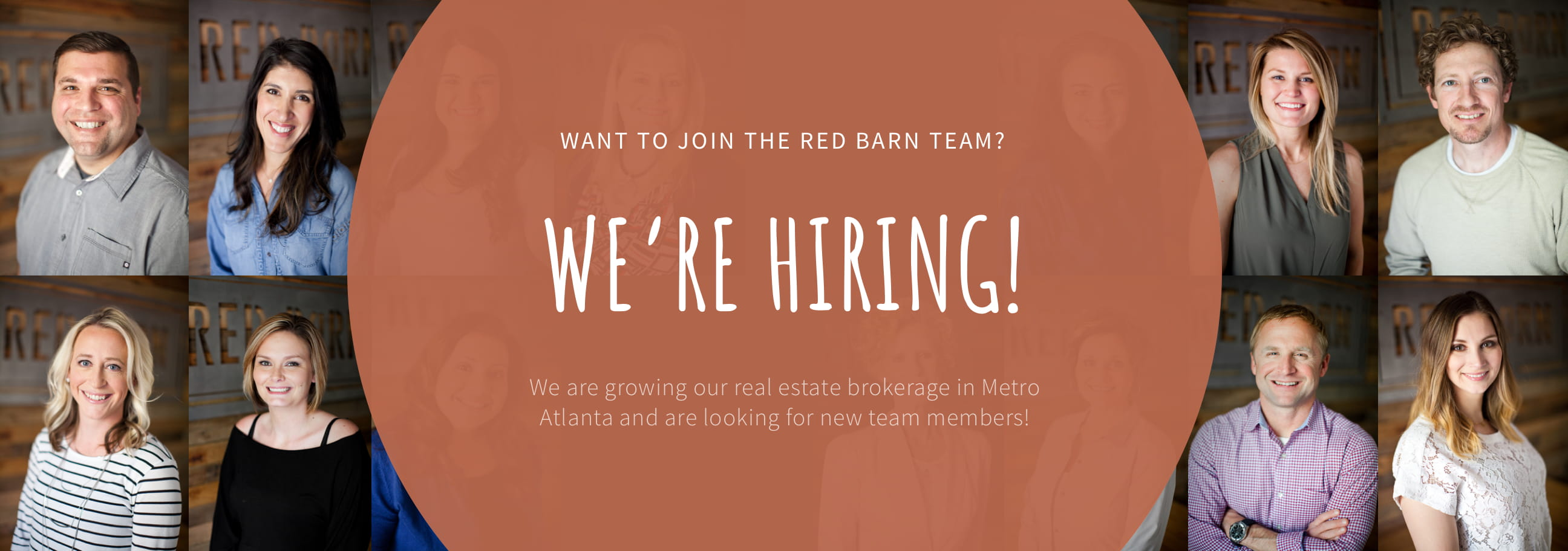 Red Barn is Hiring. We are growing our real estate brokerage in Metro Atlanta and are looking for new team members!
